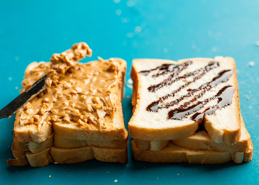 Cooking in a Hotel Room? 9 Ways to Use Your Sandwich Maker - Kosher Chocolate Peanut Butter Sandwhich using a Sandwich Maker
