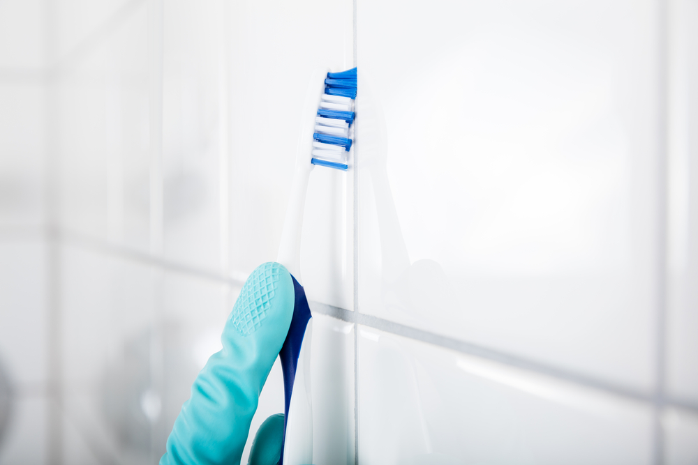 You know. The grout where the counter and wall meet. Those areas around the faucet. The little cracks and crevices where the sponge can't get to, no matter how hard to squeeze. Wherever traditional cleaning tools can't reach...an electric toothbrush can.