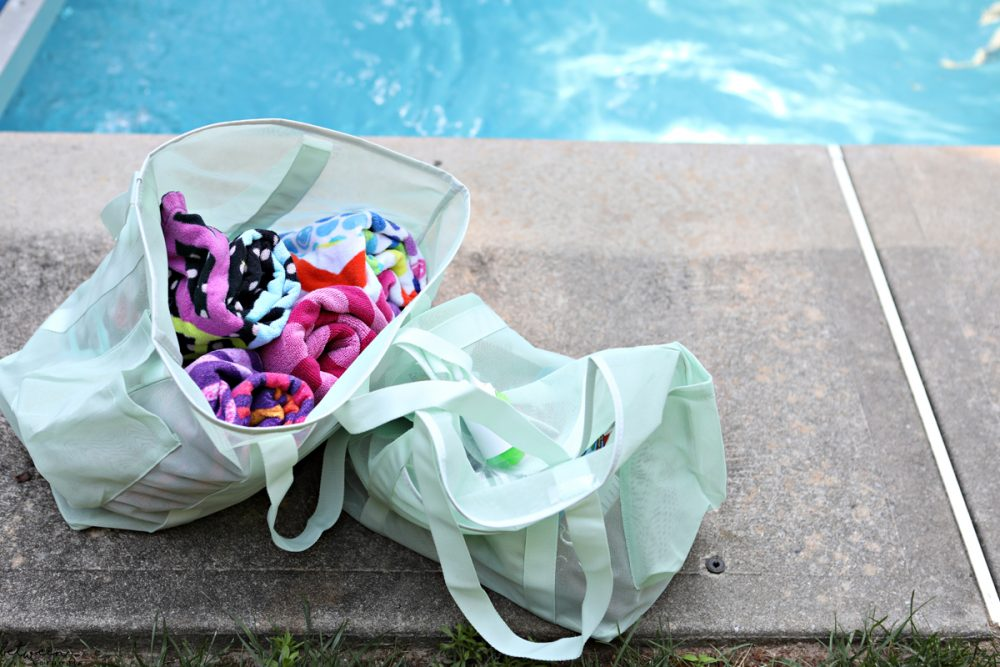 What to take to the pool. Here are some tips to make pooltime easier. Swimming Made Easy: 4 Ways to Make Pool Time (and Laundry Time) Easier for Mom. Pool time is lots of fun. Collecting lots of wet stuff afterwards? Not as much.