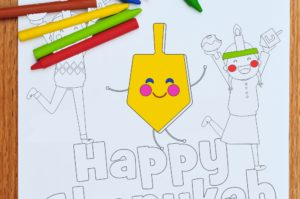 Get Out the Crayons and Download Our Chanukah Coloring Page (Free!)