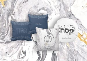 We've Designed Custom Pesach Pillowcases & Napkins for You!