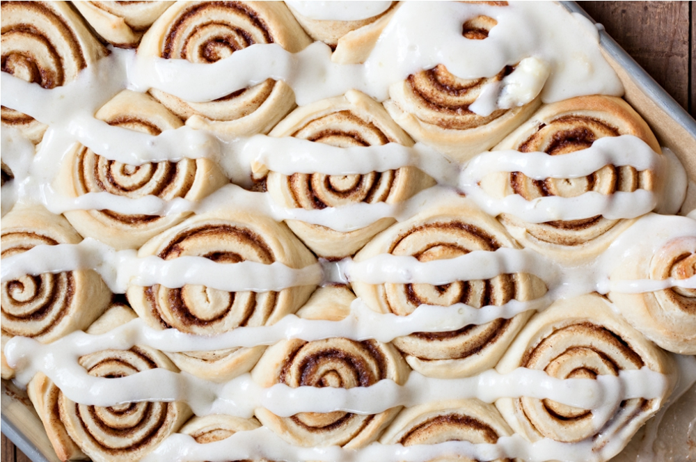 The Best Dairy Cinnamon Buns with Cream Cheese Frosting. My kids always beg me to make these dairy cinnamon buns.