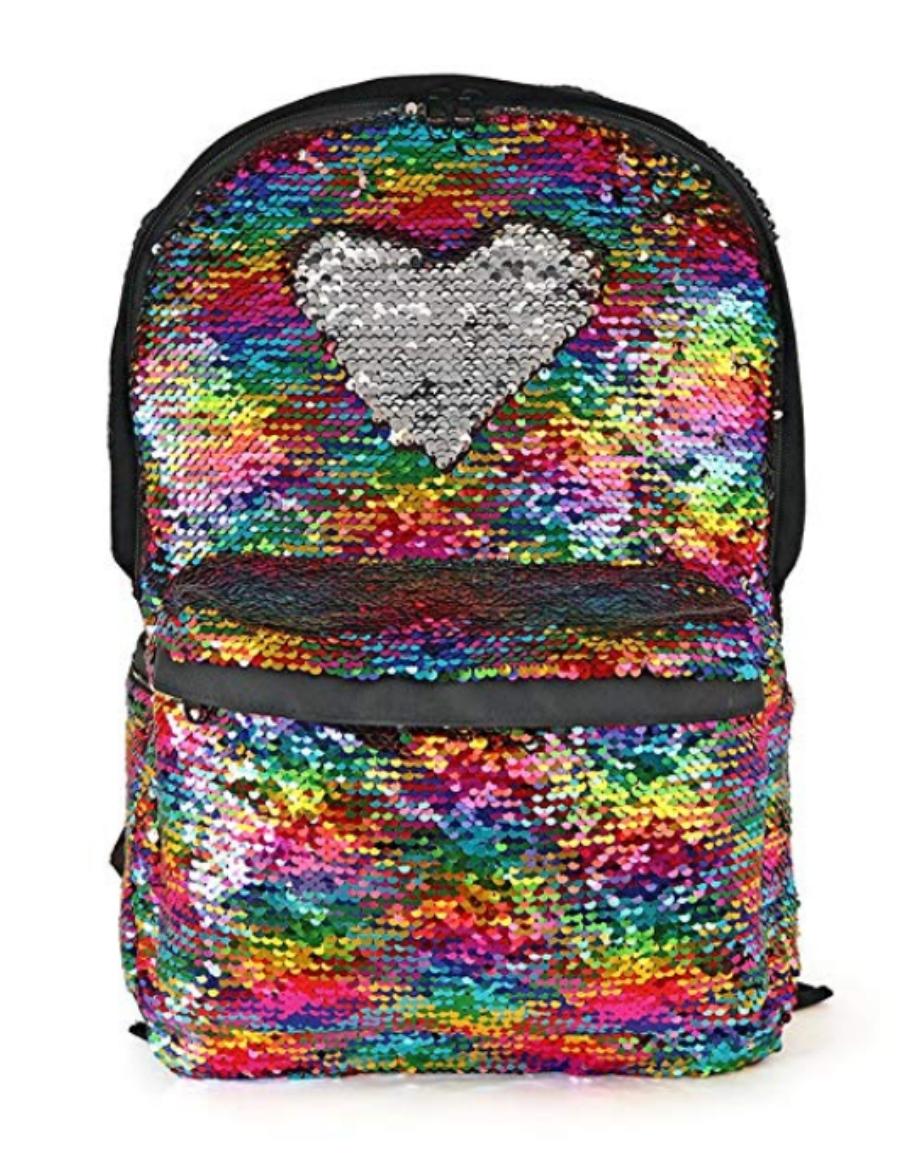 flip sequins backpack