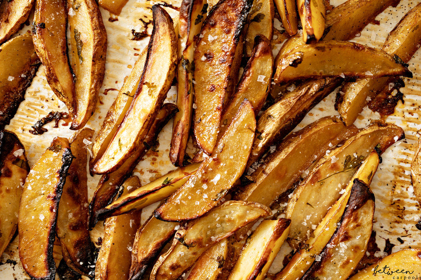sticky maple potatoes