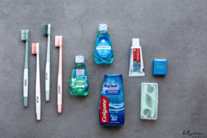 You're buying new toothbrushes anyway, so now's the time to assemble your toothbrush travel bag. You'll be thrilled you did it whenever you go away with the family.