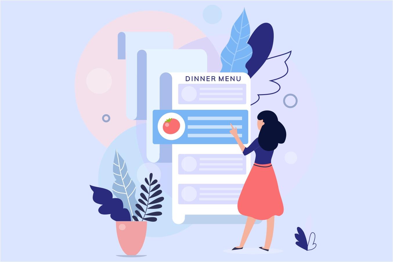 monthly menu plan for dinner