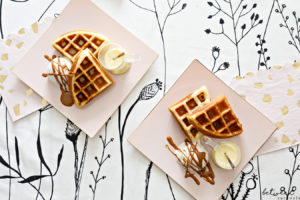 It's Hot, Cold, Creamy, and Crispy: Waffles with White Chocolate Mousse