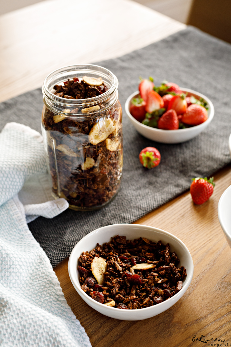 Chocolate Granola is Our New Favorite Breakfast Treat Enjoy it as a cereal with milk, or as an add-in to your yogurt. This is one granola that appeals to those who like wholesome foods and those who like sweet things alike.