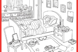 morning routine coloring pages