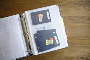 file binder for papers and documents