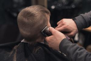 boy first haircut