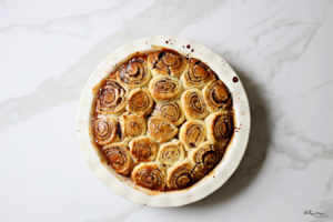apple cinnamon bun pie