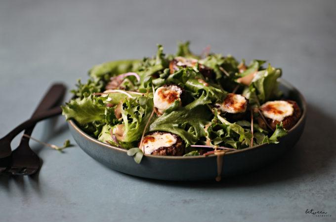 cheese stuffed mushrooms salad