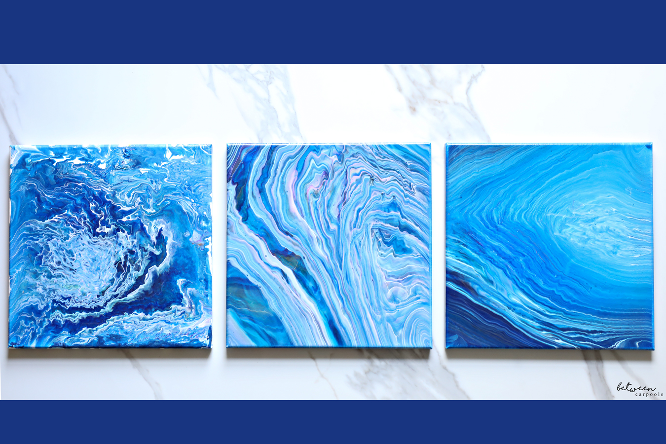 fluid paint marble art