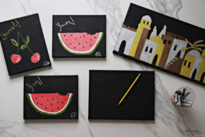Cool Activity: Create This Fruit Art on Black Canvases