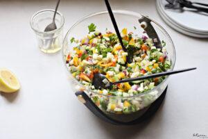 This Diced Mozzarella Salad is *Perfect* for Summer Shalosh Seudos