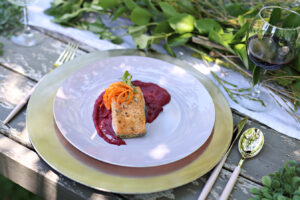 Simple and Gorgeous: Salmon with Beet Puree