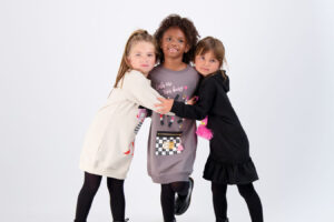 They're Having a Blast in Cozy Mon Doux Monde Sweatshirt Dresses!